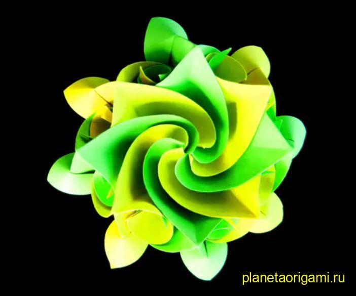 Цветок аквилегия из бумаги