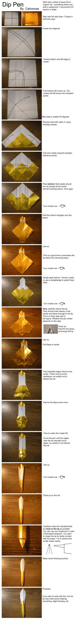 ручка оригами схема сборки