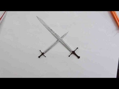 меч оригами