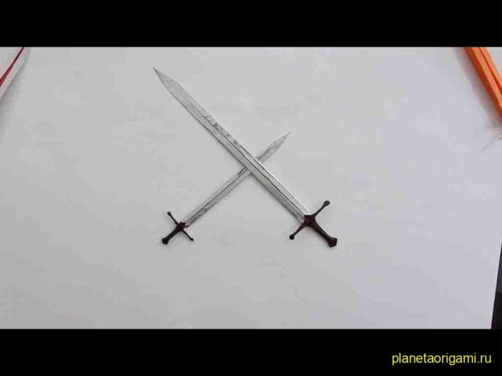 Как сделать меч на руке 974