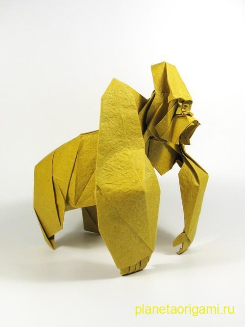 оригами горилла