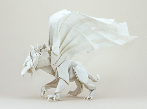 оригами грифон