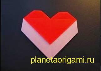 Простое оригами сердце