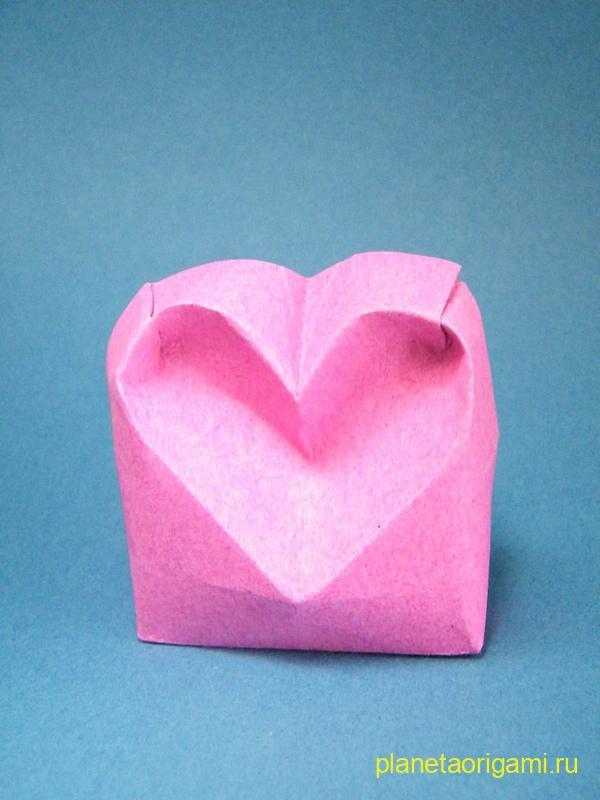 Объемное сердечко по схеме