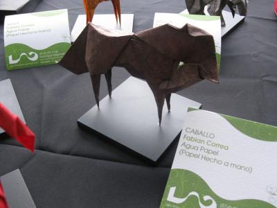 бумажная лошадь оригами по схеме Fabian Correa