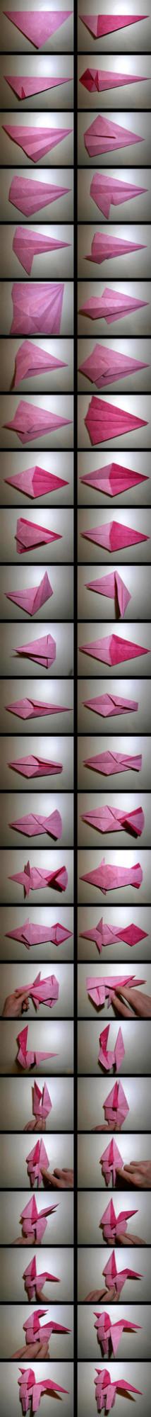 пони оригами диаграмма