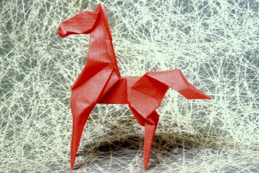 бумажная лошадка