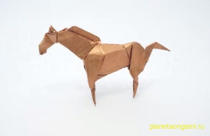 оригами лошадь от джейсона лина
