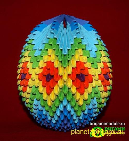 пасхальное яйцо из модулей