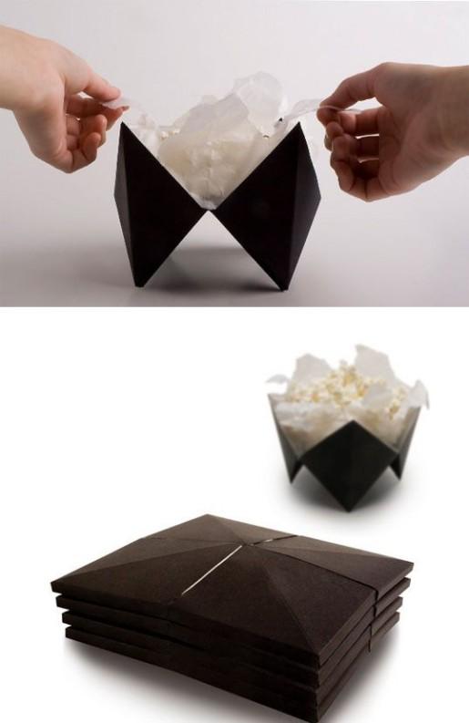 оригами в упаковке для попкорна