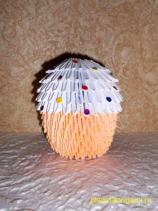 кулич оригами