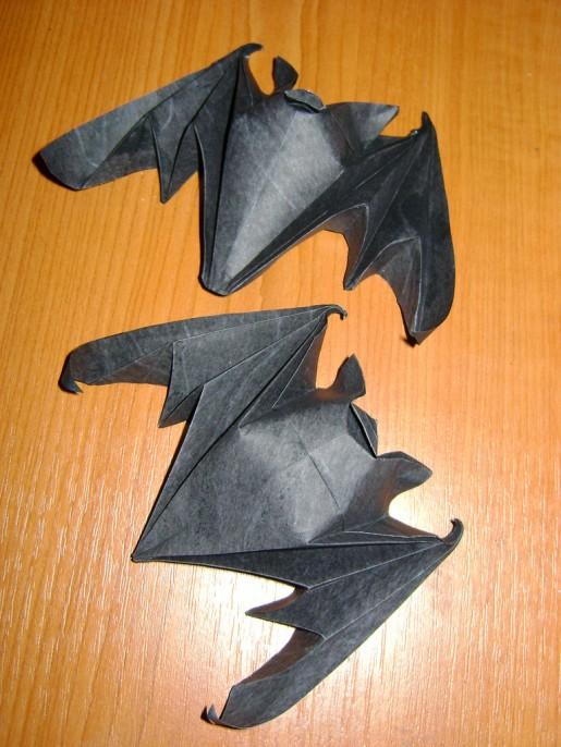 Летучая мышь по схеме Michael LaFosse Планета Оригами