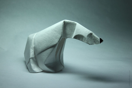 полярный медведь оригами
