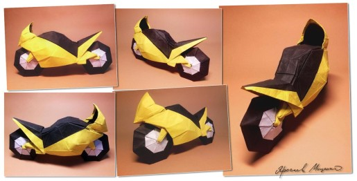 мотоцикл оригами