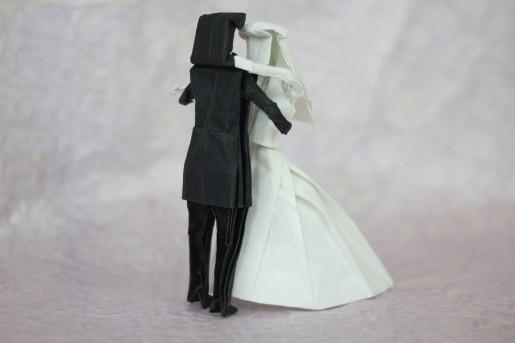 молодожены оригами