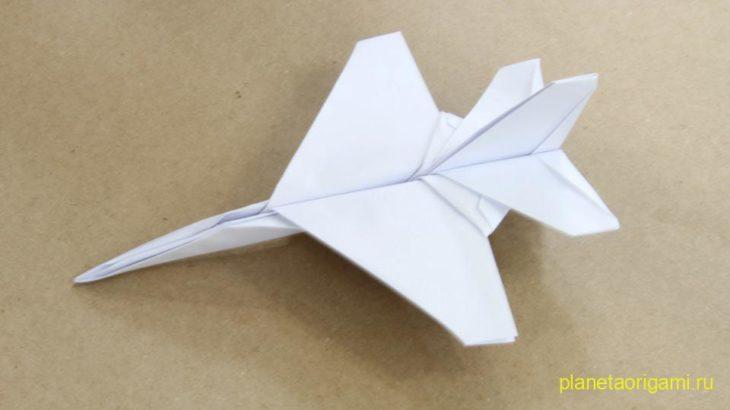 Видео оригами истребитель