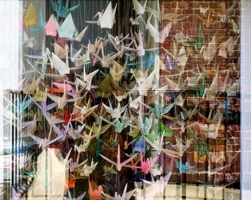 оригами занавески