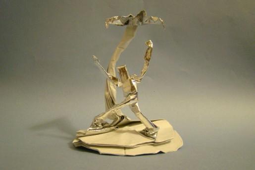 оригами застрявший на острове