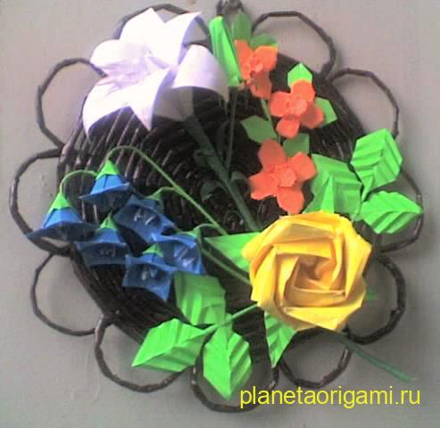 панно из оригами