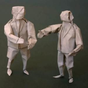 бумажный оригами человек