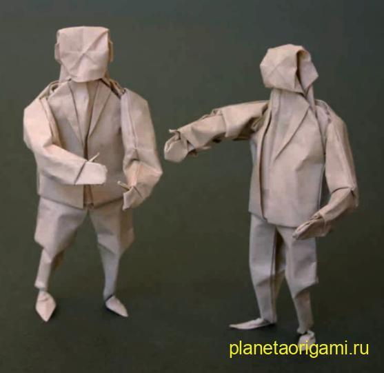 Бумажный человек по схеме