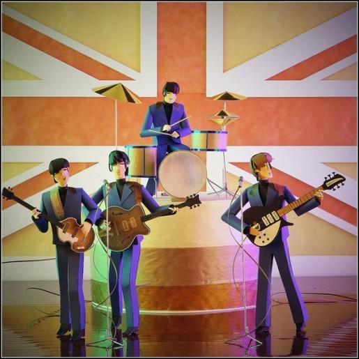 Фигурки из бумаги, The Beatles