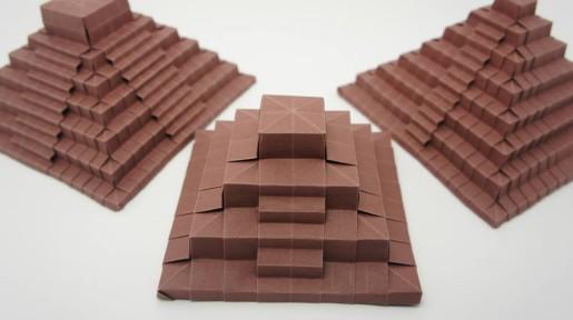 Схемы сборки таких пирамид предложил известный нам мастер оригами Jo Nakashima.  Вдохновила его на сборку таких...