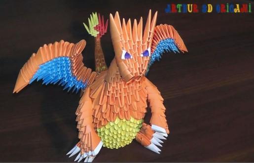 Покемон Charizard (Dragon) из треугольных модулей