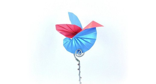 синяя птица счастья оригами