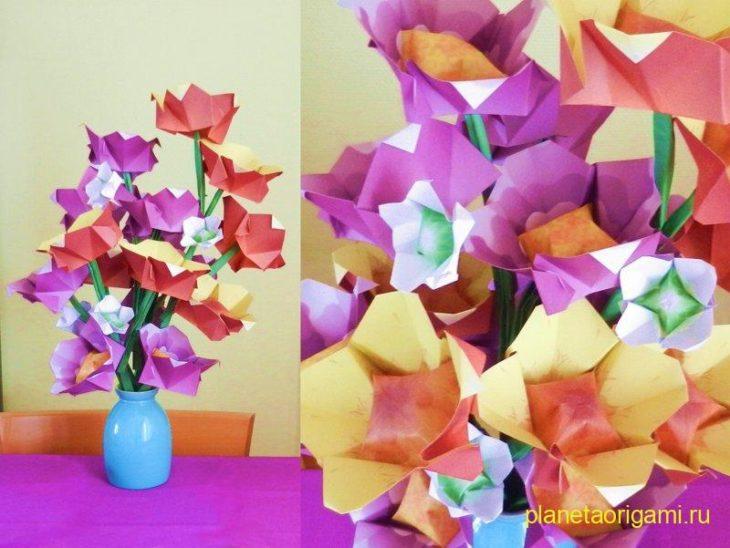 цветов оригами по схеме