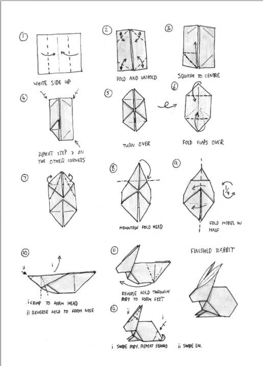 схема сборки зайчика