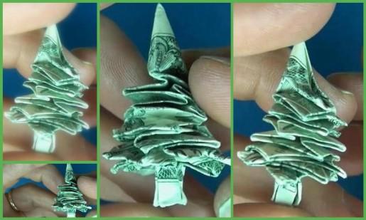 $1 Origami Christmas Tree