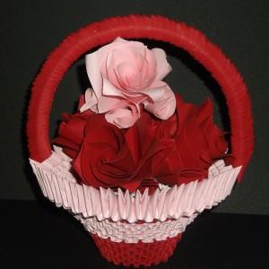 модульная ваза оригами