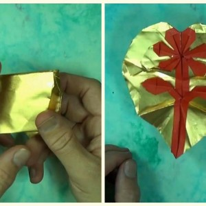 открытка сердце цветок