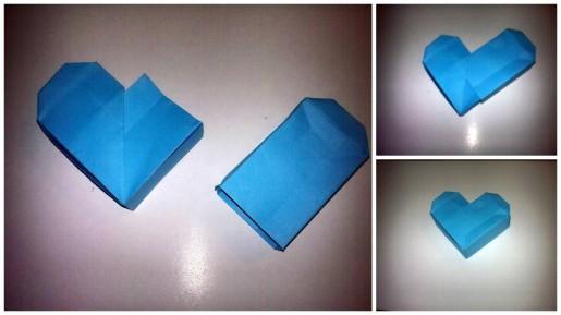 коробочка сердце оригами