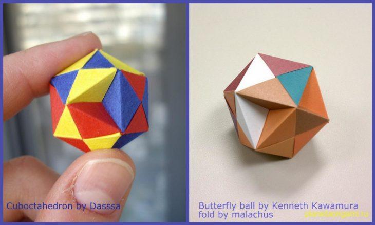 Butterfly Ball Origami (With images) | Składanie papieru, Sztuka ... | 720x1200