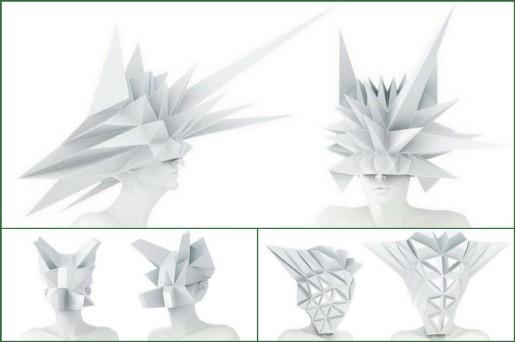 оригами шляпы