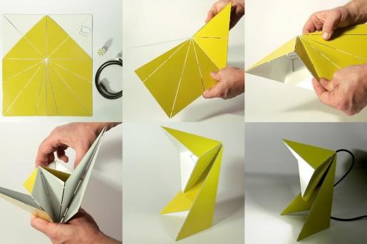 оригами лампа