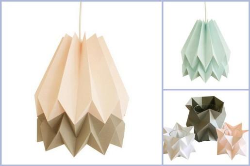 дизайнерские оригами лампы