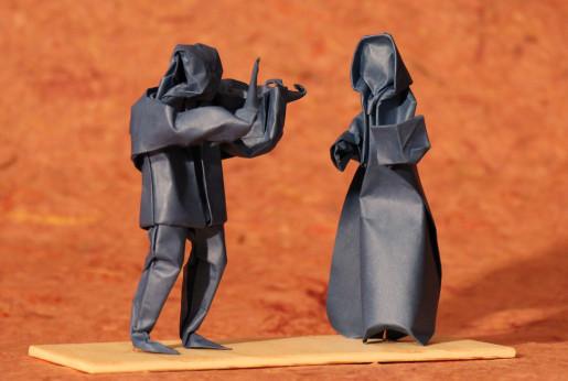 певица и скрипач оригами
