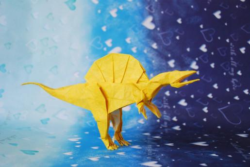 спинозавр оригами