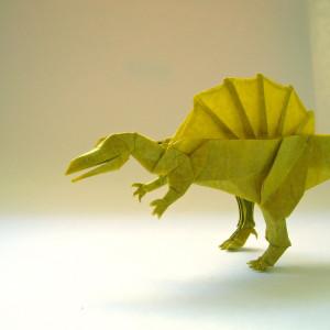 бумажный оригами спинозавр