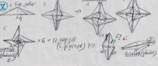 схема сборки спиральной кусудамы ирины кривякиной