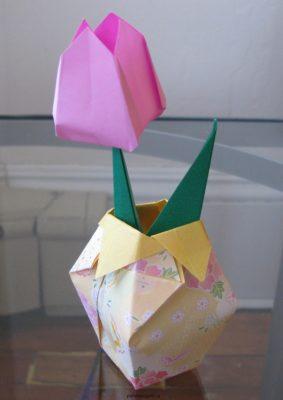 вазочка бумажная