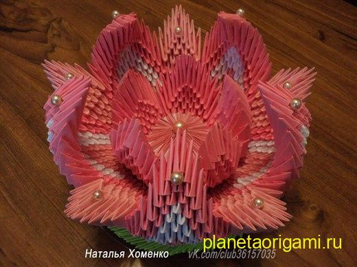 Ваза для цветов своими руками из модулей
