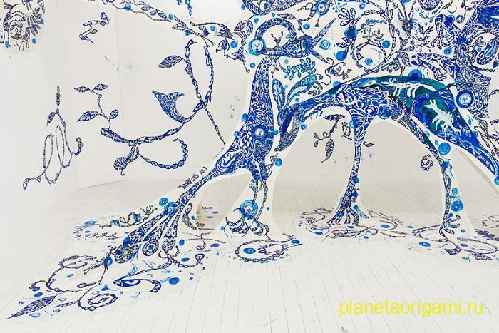 Невероятная бумажная паутина от Yusuke Asai