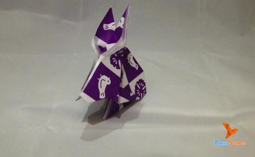оригами заяц по схеме