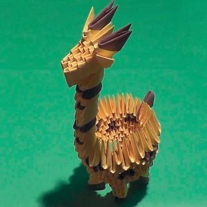 жираф из треугольных модулей