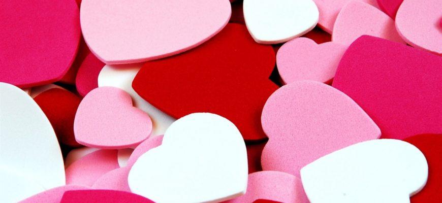 Разноцветные валентинки