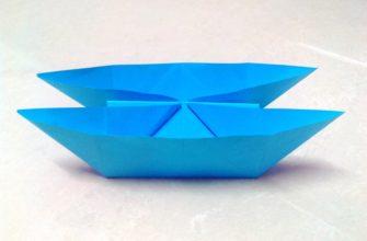 Оригами катамаран